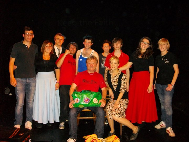 The cast and crew of 'Last Train to Wigan'